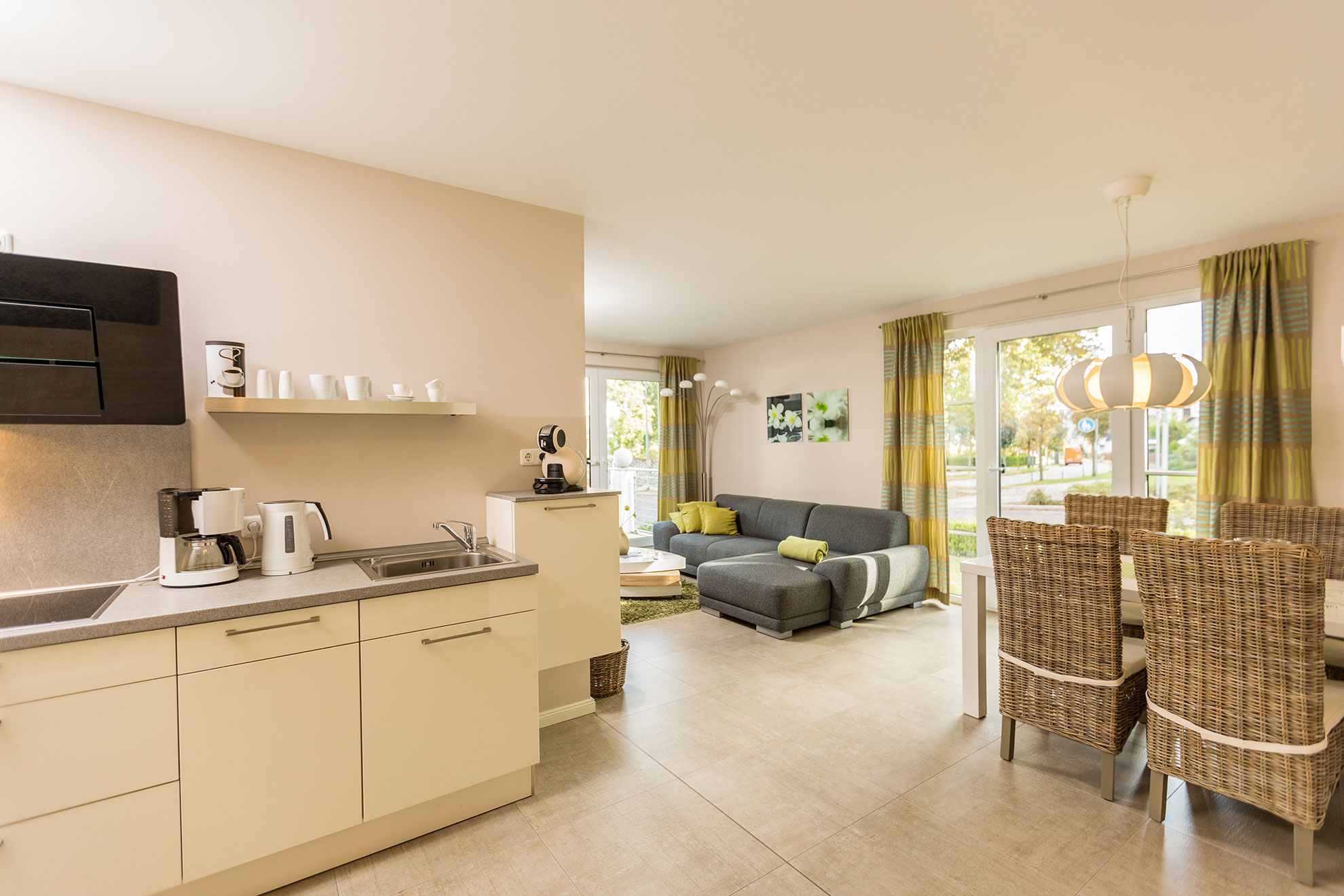 Residenz Capitello Luxus-Ferienwohnung Binz, Appartement 1 **** direkt am Kurpark in Binz auf Rügen