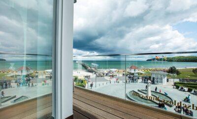 ***** Strandschloss Binz Ocean One Luxusferienwohnung Strandpromenade Binz