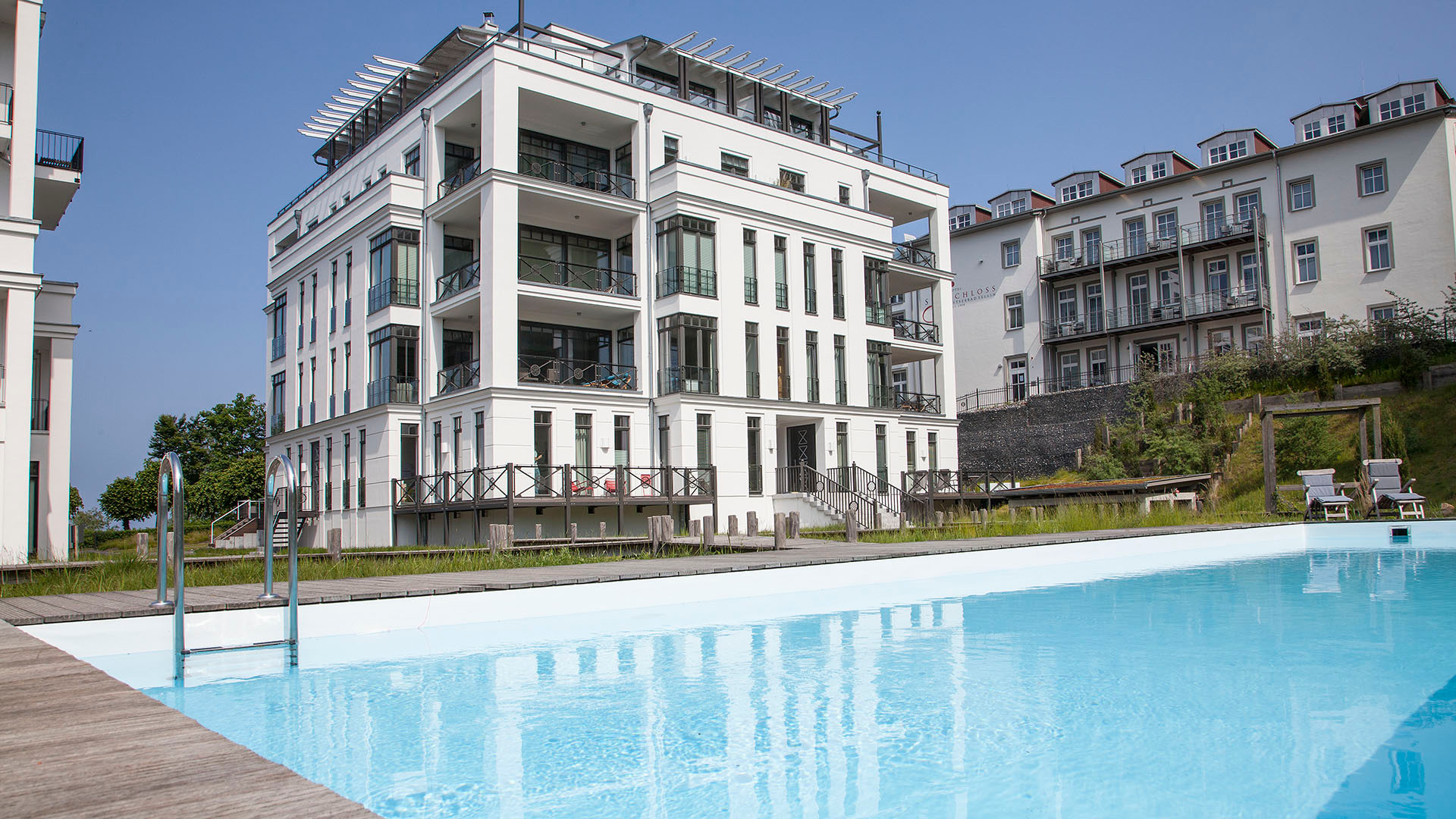 Villa Claire - Luxus-Appartement SUNSHINE CLOUD***** - direkte Strandlage, Sellin